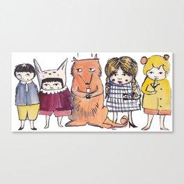 Moo Friends Canvas Print