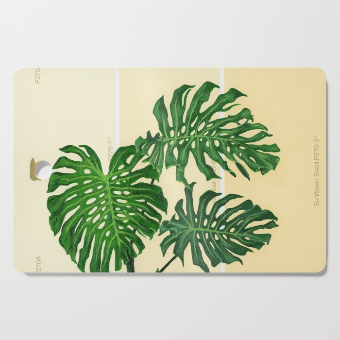 Monstera on Yellows Cutting Board by allisonhuynh