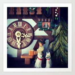 German Clock Art Print
