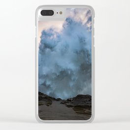 Monster Waves at Shore Acres State Park in Oregon Clear iPhone Case