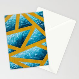 Blue Waves Stationery Cards