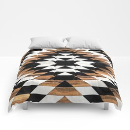 Urban Tribal Pattern 13 - Aztec - Concrete and Wood Comforters