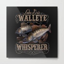 Lake Erie Walleye Whisperer Vintage Fishing Metal Print