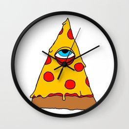Illuminati Pizza - Swag Pepperoni Confirmed Wall Clock