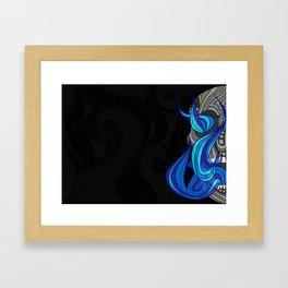 Burning Skull Framed Art Print