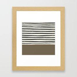 Cappuccino x Stripes Framed Art Print