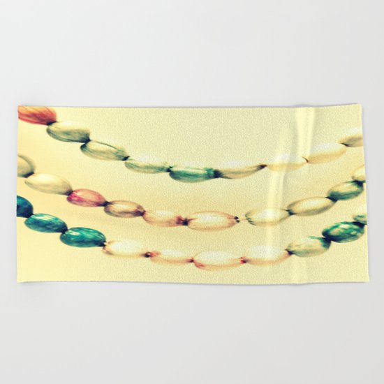 pASTel Vintage Beads Beach Towel