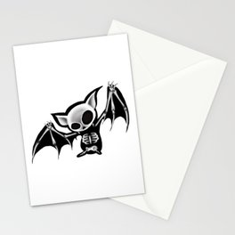 Skeleton bat Stationery Cards