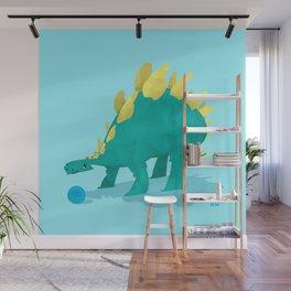 Stegosaurus and his Ball Wall Mural