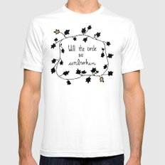 Will The Circle Be Unbroken White SMALL Mens Fitted Tee
