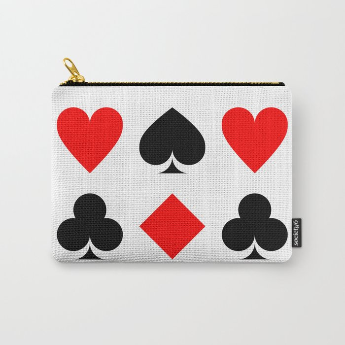 Heart, Pike, Clover & Diamond Carry-All Pouch
