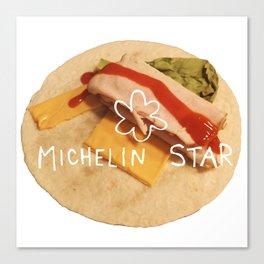 michelin star - burrito Canvas Print