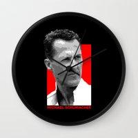 formula 1 Wall Clocks featuring Formula One - Michael Schumacher by Vehicle