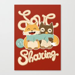 Love is Sharing Canvas Print