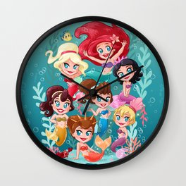 Daughters of Triton Wall Clock