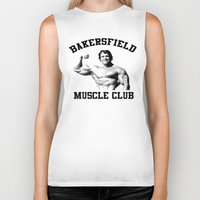 muscle Biker Tanks featuring Muscle club by big tony