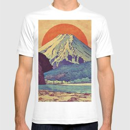 The Red Sunrise at Dayai Shore T-shirt