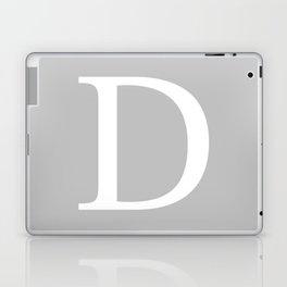 Silver Gray Basic Monogram D Laptop & iPad Skin