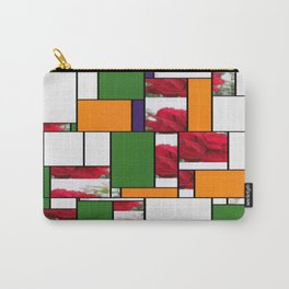 Red Rose Edges Art Rectangles 5 Carry-All Pouch