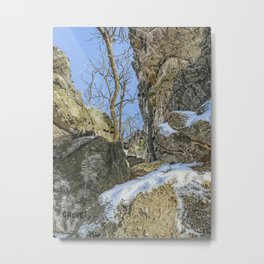 Hammonds Rocks, PA Metal Print
