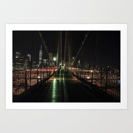 You'll never walk alone - Brooklyn Bridge Art Print