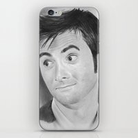 david tennant iPhone & iPod Skins featuring Allons-y! David Tennant in Doctor Who by IndieJudge.com