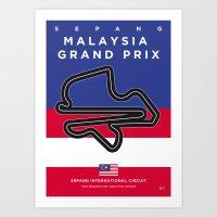 My F1 SEPANG Race Track Minimal Poster Art Print