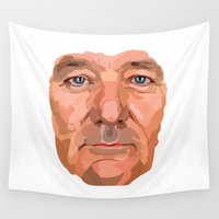 murray Wall Tapestries featuring Shaping the Stars - Bill Murray by zajface