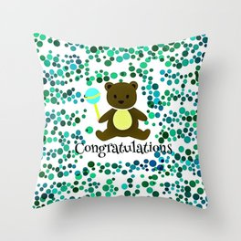 Baby Congratulation Throw Pillow