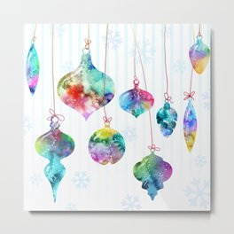 xmas ornaments Metal Print