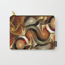 Abstract Red and Gold Carry-All Pouch