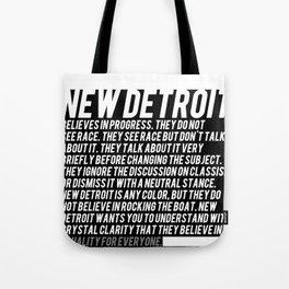 New Detroit (Dark shirt version) Tote Bag
