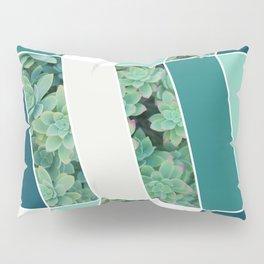 Teal Herringbone #society6 #teal #succulent Pillow Sham
