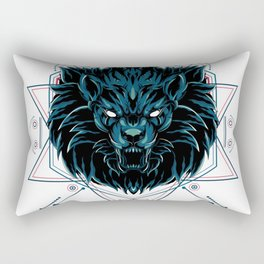 The Wild Lion sacred geometry Rectangular Pillow