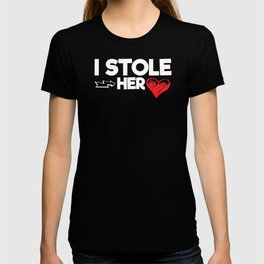 Couples Honeymoon I Stole Her Heart T-shirt