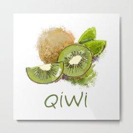 Qiwi Metal Print