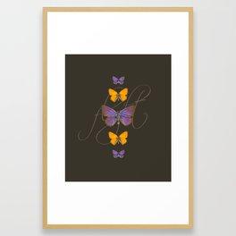 Butter Flight Framed Art Print