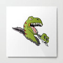 Velociraptor Dinosaur Metal Print