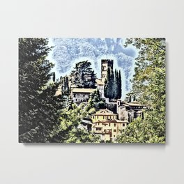 Duomo of Barga (dramatic) Metal Print