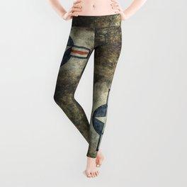 Stylized US Air force Roundel Leggings
