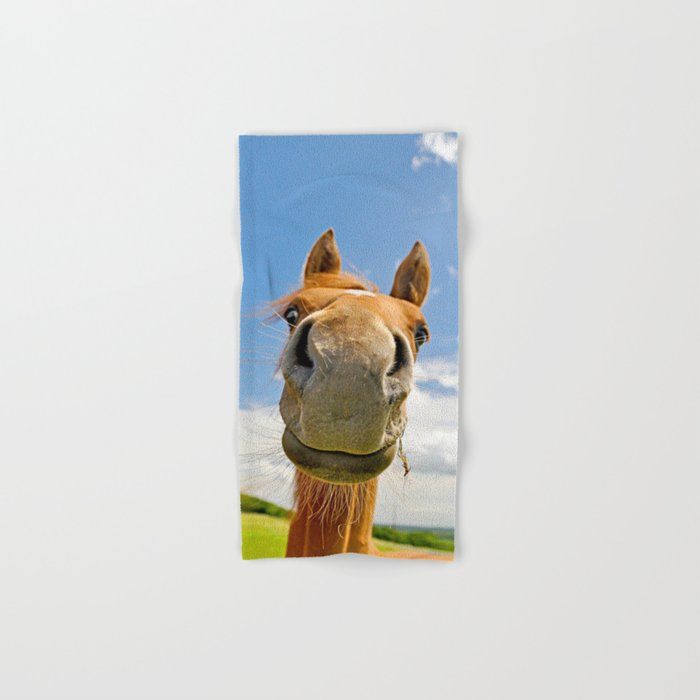 Smiling horse Hand & Bath Towel