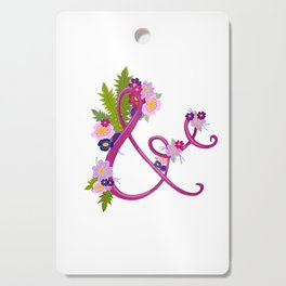 Floral Ampersand Cutting Board