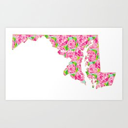 United States of Lilly: Maryland Art Print