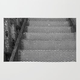 Metal Steps Down Rug