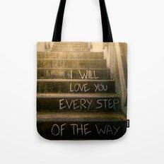 Love Steps Tote Bag
