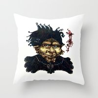 """agents of shield Throw Pillows featuring """"Loyal Agents"""" by Liz Heller"""