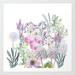Spring Flowers Bouquet Art Print