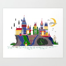 Pop Art Hogwarts Art Print