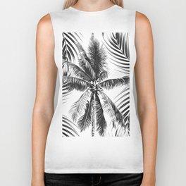 South Pacific palms II - bw Biker Tank