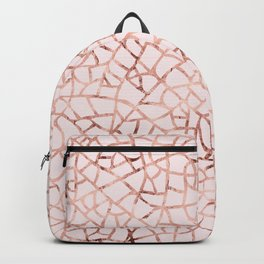 Crackle Rose Gold Foil Backpack